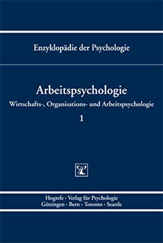 9783801705985: Wirtschafts-, Organisations- und Arbeitspsychologie. vol. Bd. D/III/1
