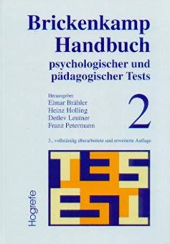 Handbuch psychologischer und pädagogischer Tests 2: Rolf Brickenkamp