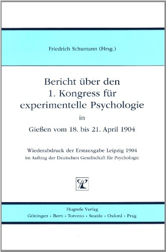 Bericht uber den 1. Kongress fur experimentelle Psychologie (3801718956) by Harvey M. Deitel