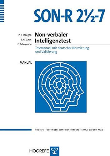 9783801720605: SON-R 2½-7. Non-verbaler Intelligenztest: Testmanual mit deutscher Normierung und Validierung (Livre en allemand)