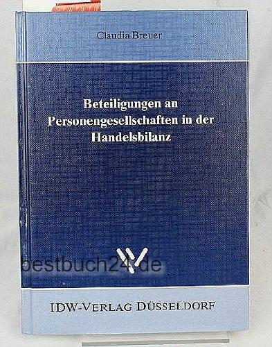 9783802106156: Beteiligungen an Personengesellschaften in der Handelsbilanz. Dissertation.