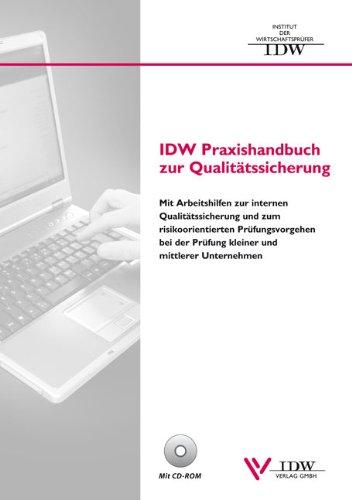 9783802112171: IDW Praxishandbuch zur Qualitätssicherung mit CD-ROM