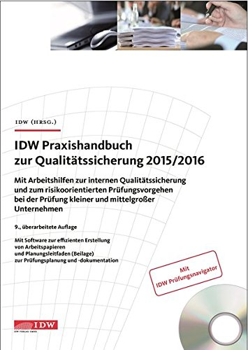 IDW Praxishandbuch zur Qualitätssicherung 2015/2016, m. CD-ROM