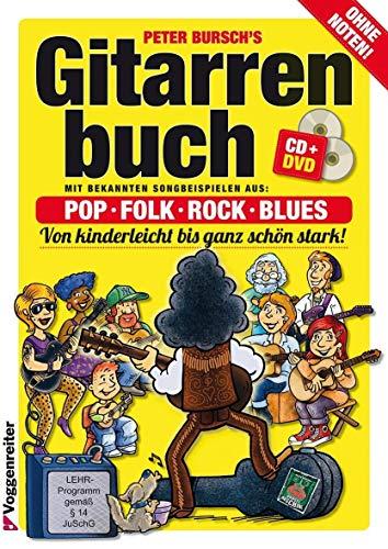 9783802402081: Gitarrenbuch 1. Mit DVD und CD: Das populärste Gitarrenbuch ohne Noten! Von kinderleicht bis ganz schön stark. Pop, Folk, Rock und Blues