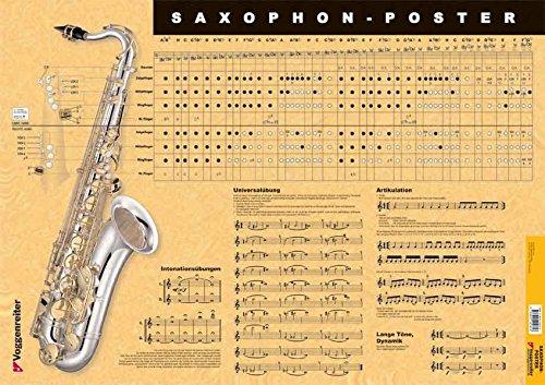 9783802404856: Saxophon-Poster: Alles was ein Saxophonist wissen muss als Poster!