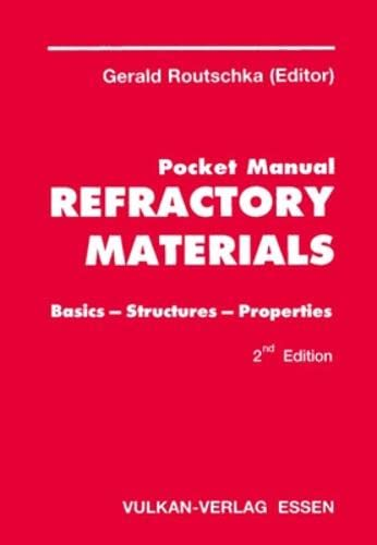 9783802731549: Pocket Manual Refractory Materials: Basics-structures - Properties