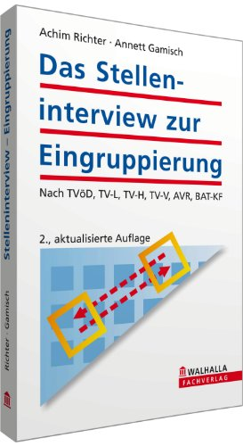 9783802915482: Das Stelleninterview zur Eingruppierung: Nach TV�D, TV-L, TV-H, TV-V, AVR, BAT-KF