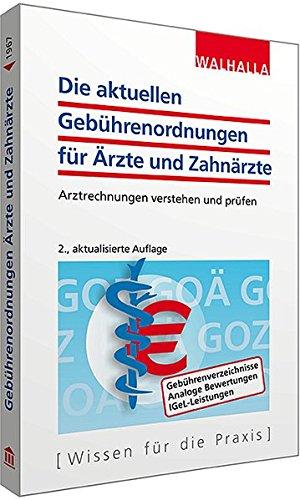 9783802919671: Die aktuellen Gebührenordnungen für Ärzte und Zahnärzte