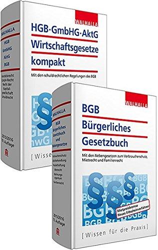 9783802919848: Kombi-Paket BGB Bürgerliches Recht + HGB, GmbH, AktG, Wirtschaftsgesetze kompakt