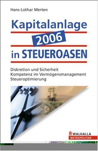9783802934018: Kapitalanlage 2006 in Steueroasen