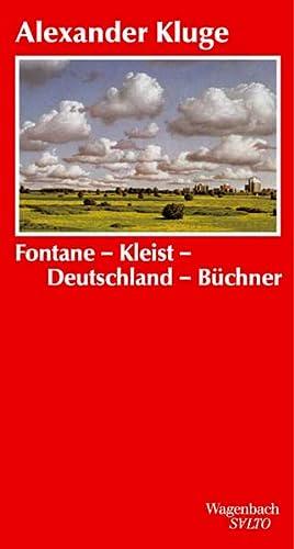 9783803112248: Fontane-Kleist-Deutschland-Büchner: Zur Grammatik der Zeit