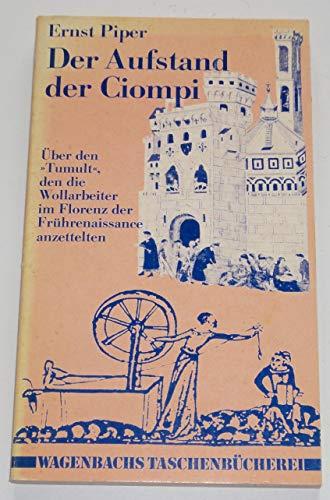 9783803120496: Der Aufstand der Ciompi: �ber den