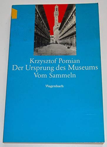 9783803122278: Der Ursprung des Museums. Vom Sammeln