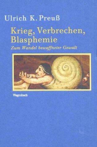 9783803151681: Krieg, Verbrechen, Blasphemie;