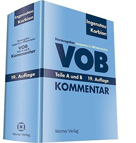 9783804121607: VOB - Teile A und B - Kommentar