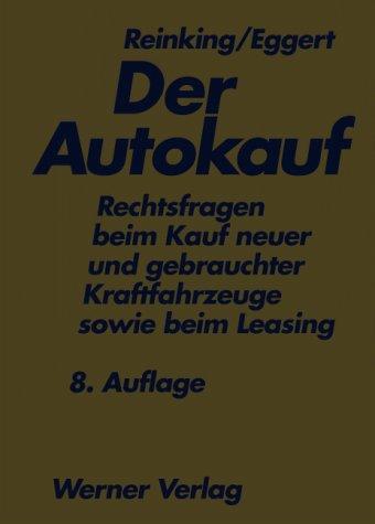 9783804146389: Der Autokauf.