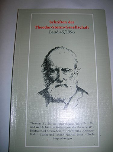 9783804207844: Schriften der Theodor-Storm-Gesellschaft