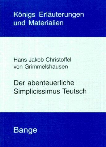 9783804403840: Der abenteuerliche Simplicissimus Teutsch. (Lernmaterialien)