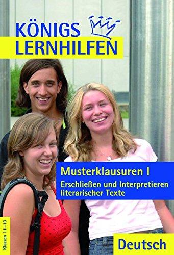 9783804415287: Königs Lernhilfen - Musterklausuren 1. Lösungen: Erschließen und Interpretieren literarischer Texte