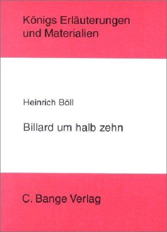9783804416642: Billard um halb zehn. (Königs Materialien und Erläuterungen)
