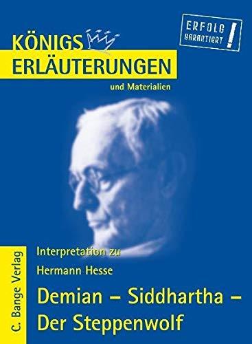 9783804416994: Demian - Siddharta - Der Steppenwolf. Erläuterungen und Materialien. (Lernmaterialien)