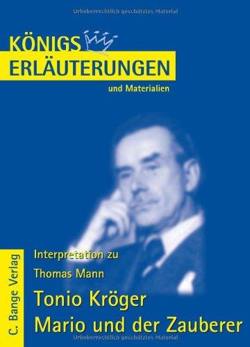 9783804417090: Tonio Kröger / Mario und der Zauberer. Erläuterungen und Materialien