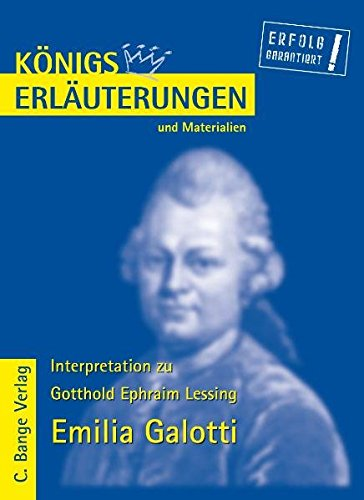 9783804417182: Königs Erläuterungen und Materialien, Bd.16, Emilia Galotti