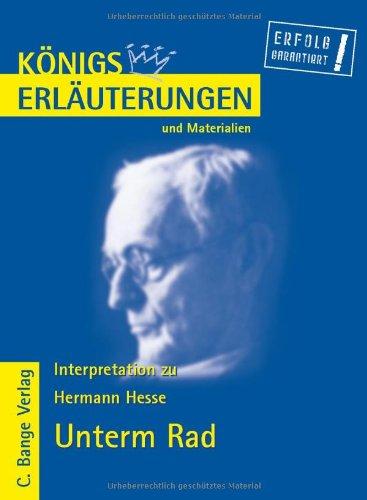 Unterm Rad. Erläuterungen und Materialien: Hesse, Hermann