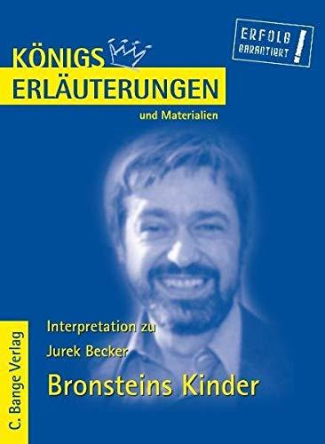 9783804418202: Bronsteins Kinder: Textanalyse und Interpretation mit ausführlicher Inhaltsangabe