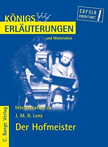 9783804418264: Königs Erläuterungen und Materialien, Bd.441, Der Hofmeister