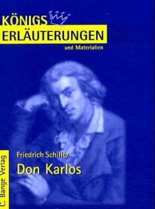 9783804418295: Königs Erläuterungen und Materialien, Bd.6, Don Karlos