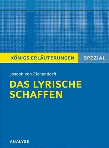 9783804430594: Joseph von Eichendorff. Das lyrische Schaffen