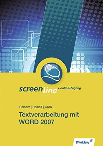 9783804502116: Winklers Blueline: Screenline: Textverarbeitung mit Word 2007: Schülerbuch, 1. Auflage, 2013