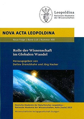 Rolle der Wissenschaft im Globalen Wandel: Detlev Drenckhahn