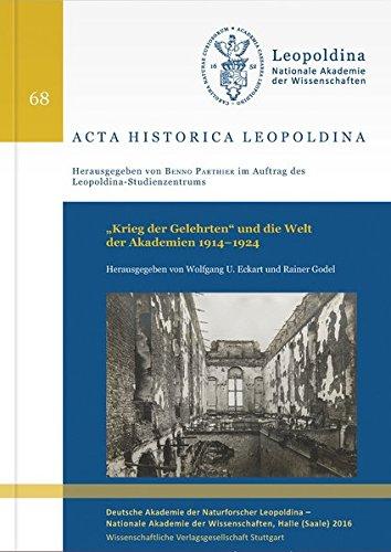 """9783804736122: """"""""Krieg der Gelehrten"""""""" und die Welt der Akademien 1914-1924"""