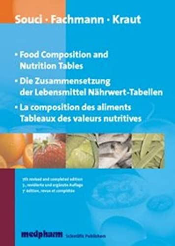 9783804750388: food composition nutrition tables composition des aliments tableaux des valeurs nutritives 7th trili