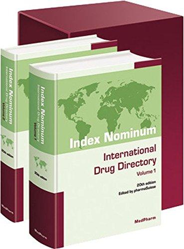 Index nominum international drug directory 20th ed 2 volumes (1Cédérom) - Swiss Pharmaceutical Society