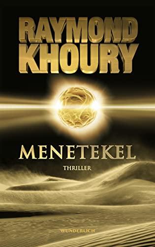 Menetekel: Thriller: Khoury, Raymond