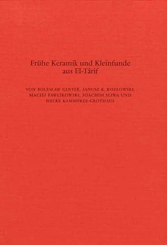9783805305020: Fruhe Keramik und Kleinfunde aus El-Harif (Archaologische Veroffentlichungen)