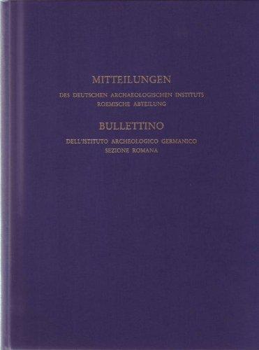 9783805309462: Mitteilungen des Deutschen Archäologischen Instituts, römische Abteilung