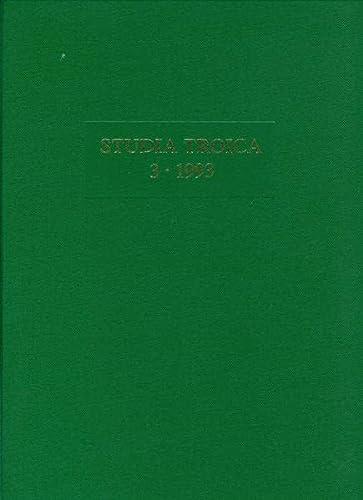 9783805315524: Studia Troica. Band 3. 1993