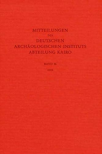 9783805326711: Mitteilungen des Deutschen Archaologischen Instituts. Abteilung Kairo: Jahrgang 2000