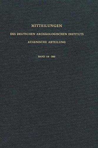 9783805332897: Mitteilungen des Deutschen Archäologischen Instituts. Athenische Abteilung: 2003