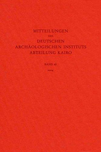 Mitteilungen des Deutschen Archäologischen Instituts. Abteilung Kairo: Orient-Abteilung, Berlin Deutsches
