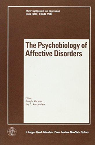 9783805514002: Psychobiology of Affective Disorders (Pfizer Symposium on Depression)