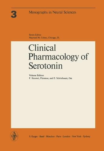 Clinical Pharmacology of Serotonin: Satellite Symposium, Helsinki,: Federigo Sicuteri, E.