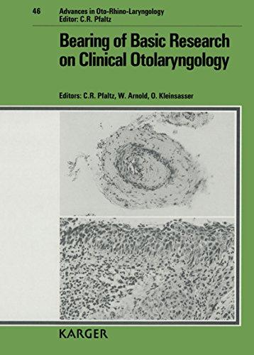 Bearing of Basic Research on Clinical Otolaryngology: C. R. Pfaltz;