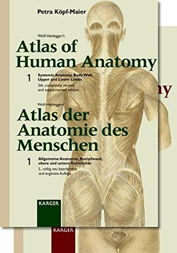 Wolf-Heidegger's Atlas of Human Anatomy (Wolf-Heidegger's Atlas Der Anatomie Des Menshen: Latin Nomenclature (v. 1 & 2) (3805554427) by Petra Kopf-Maier