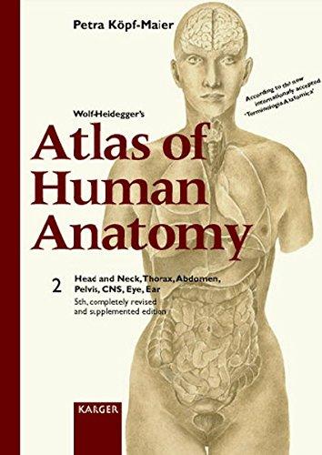 Wolf-Heidegger's Atlas of Human Anatomy: Head and Neck, Thorax, Abdomen, Pelvis, Cns, Eye, Ear (3805568533) by Petra Kopf-Maier; G. Wolf-Heidegger