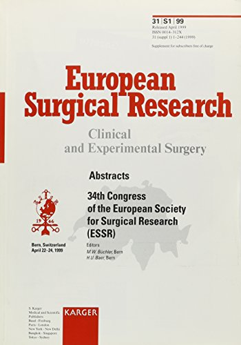 European Society for Surgical Research (ESSR): 34th